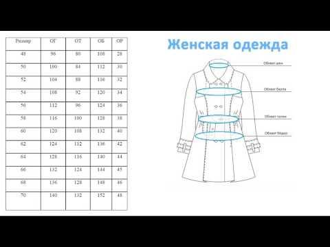 Размеры одежды больших размеров