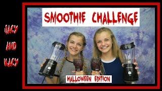 Smoothie Challenge ~ Halloween Edition ~ Jacy and Kacy