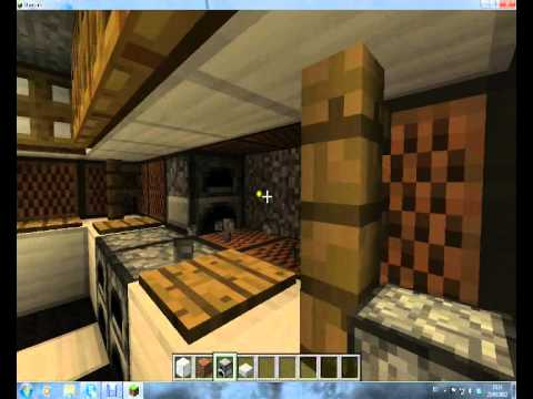 Minecraft decoraci n ep1 cocina youtube for Decoracion cocina