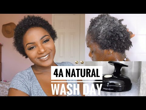 My TWA Wash Day Routine | 4A | Vanity Planet Scalp Massager