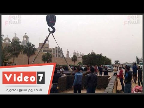 بالفيديو.. تجهيز المقبرة الجماعية لشهداء الكنيسة المرقسية فى دير مارمينا