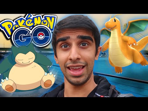 FIRST DRAGONITE & SNORLAX HUNT! - Pokemon Go With Lachlan