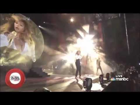 Jay Z & Beyoncé - Holy Grail & Forever Young  (LIVE Global Citizens Concert   Central Park)