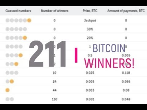 Bitcoin Lottery Result  - True Flip  - 19-08 -2017