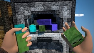 Minecraft Animation - The Realistic Sky Block Part Two!