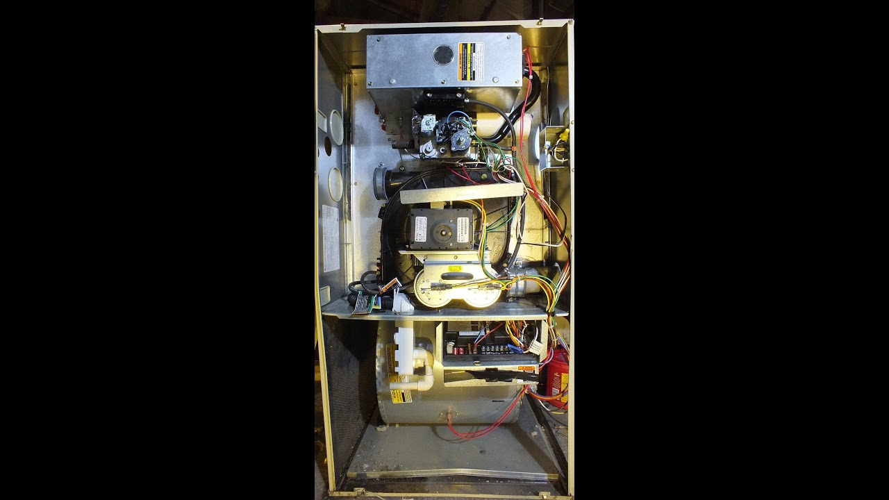 Carrier Bryant Payne heat exchanger failure - YouTube