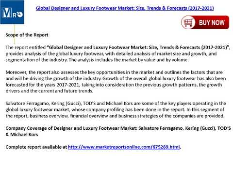 Designer and Luxury Footwear Market: Global Forecasts to 2021