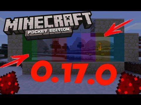 ЦВЕТНЫЕ СТЕКЛА И ПАНЕЛИ в Minecraft PE 0.17.0