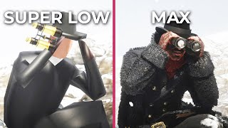 Red Dead Redemption 2 – SUPER LOW vs. Max PC Graphics Comparison