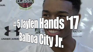 Jaylen Hands '17, Balboa City Junior at 2015 UA Holiday Classic