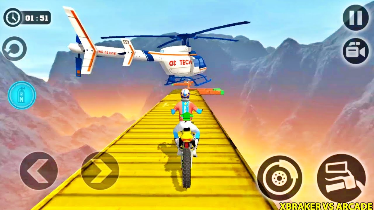 Impossible Moto Bike Tracks 3D: All Motos Driving Levels 1 to 8 Completed - Android Gameplay