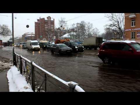 Потоп на проспекте Энгельса 26 февраля 2011
