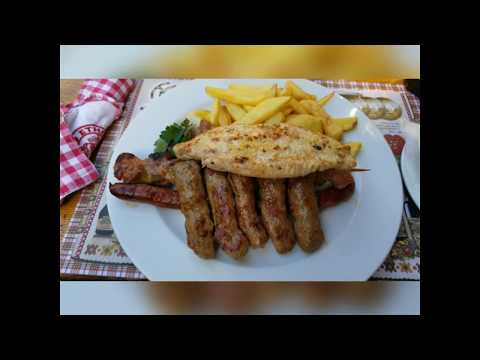 Traditional Serbian Meal in Vrsac, Serbia