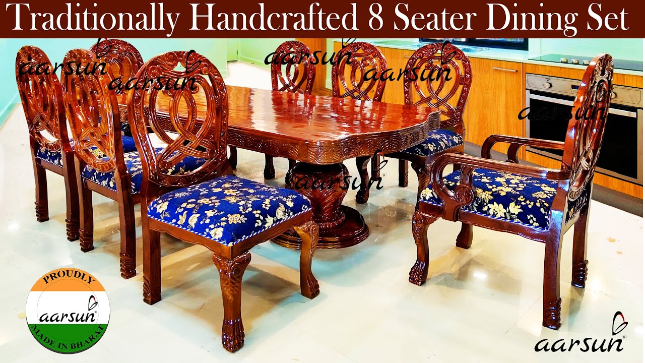 236 Beautiful 8 Seater Dining Set Dining Room Furniture Aarsun Crafted In India Youtube
