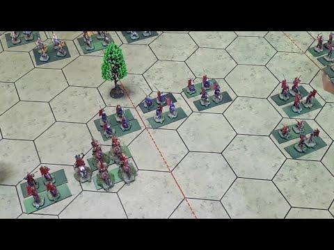 Битвы Самураев (Command \u0026 Colors Samurai Battles) Баттлрепорт #7 -Битва при Каванакадзима 1 ФАЗА