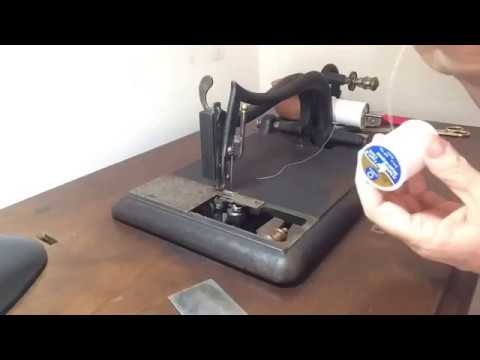 Threading the Grover & Baker Double Chainstitch Sewing Machine