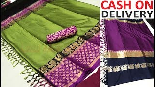tussar silk sarees with price below 1000 Rs / online shopping