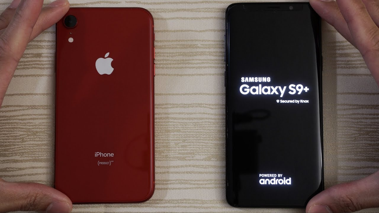 Iphone Xr Vs Samsung S9 Plus Speed Test Youtube
