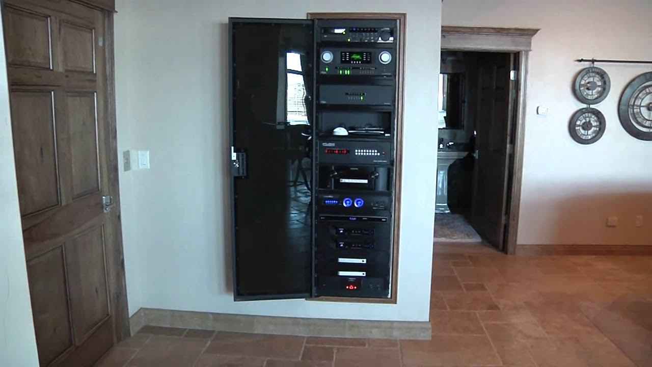 Open front panel of highly complex and organized home for Advanced home
