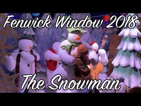 Fenwick Newcastle Christmas Window 2018 - The Snowman
