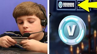 Kids stealing there moms credit cards for v bucks