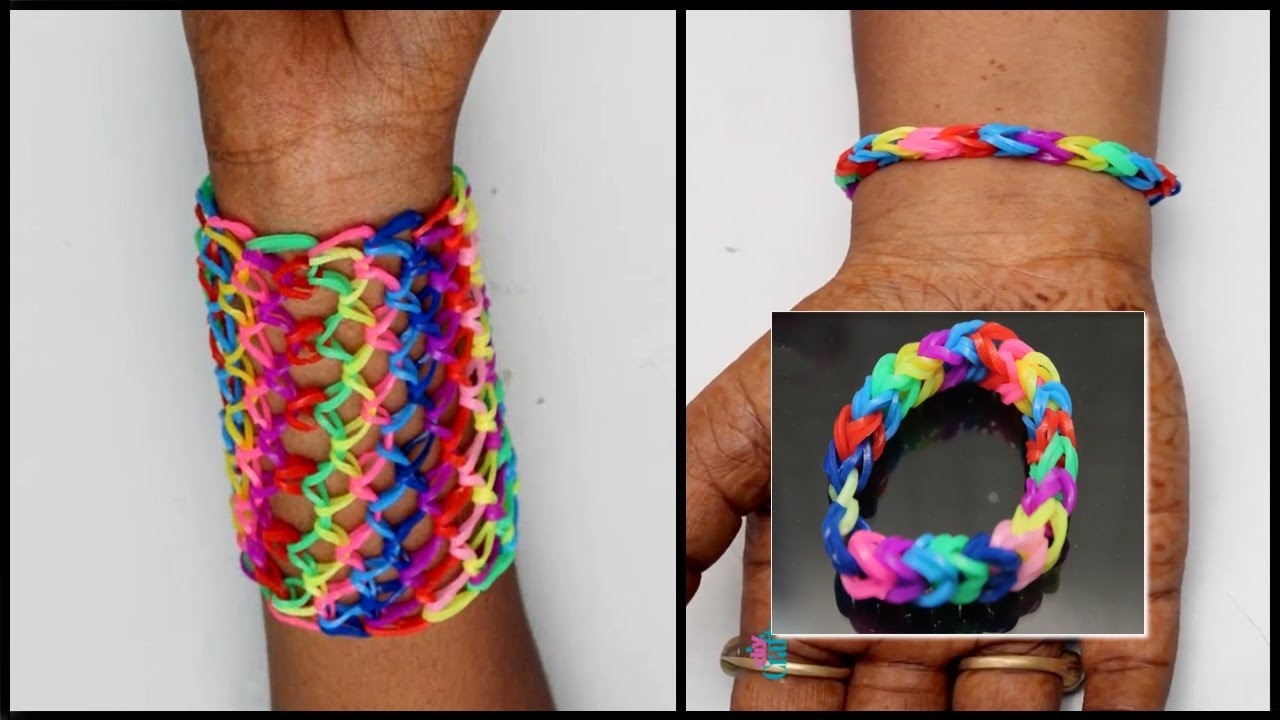 How to Make Rainbow Loom Bracelets with Bands - Easy Rainbow Loom Bracelet Designs