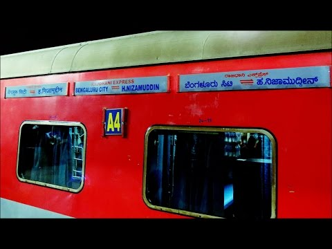 Rajdhani Express : Full Journey Compilation Bangalore - Hazrat Nizamuddin