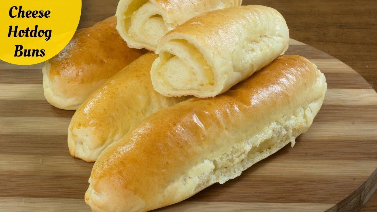 Cheese Hot Dog Buns Recipe Hotdog Buns Recipe Youtube