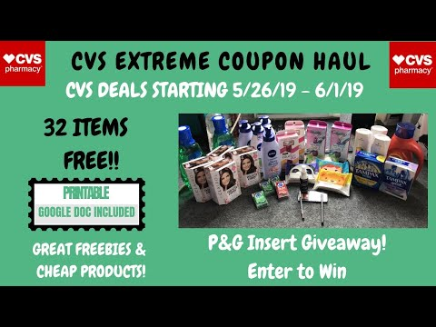 CVS EXTREME COUPON HAUL DEALS STARTING 5/26/19~32 ITEMS FREE ❤️~WOW FREE & CHEAP PRODUCTS!!