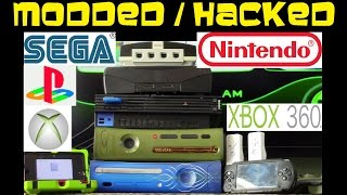 9 Hacked / Modded video game consoles PS3 , Sega , PSP , Wii , 3DS , XBOX 360 and more