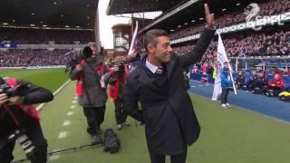 Rangers boss Pedro Caixinha takes Ibrox bow
