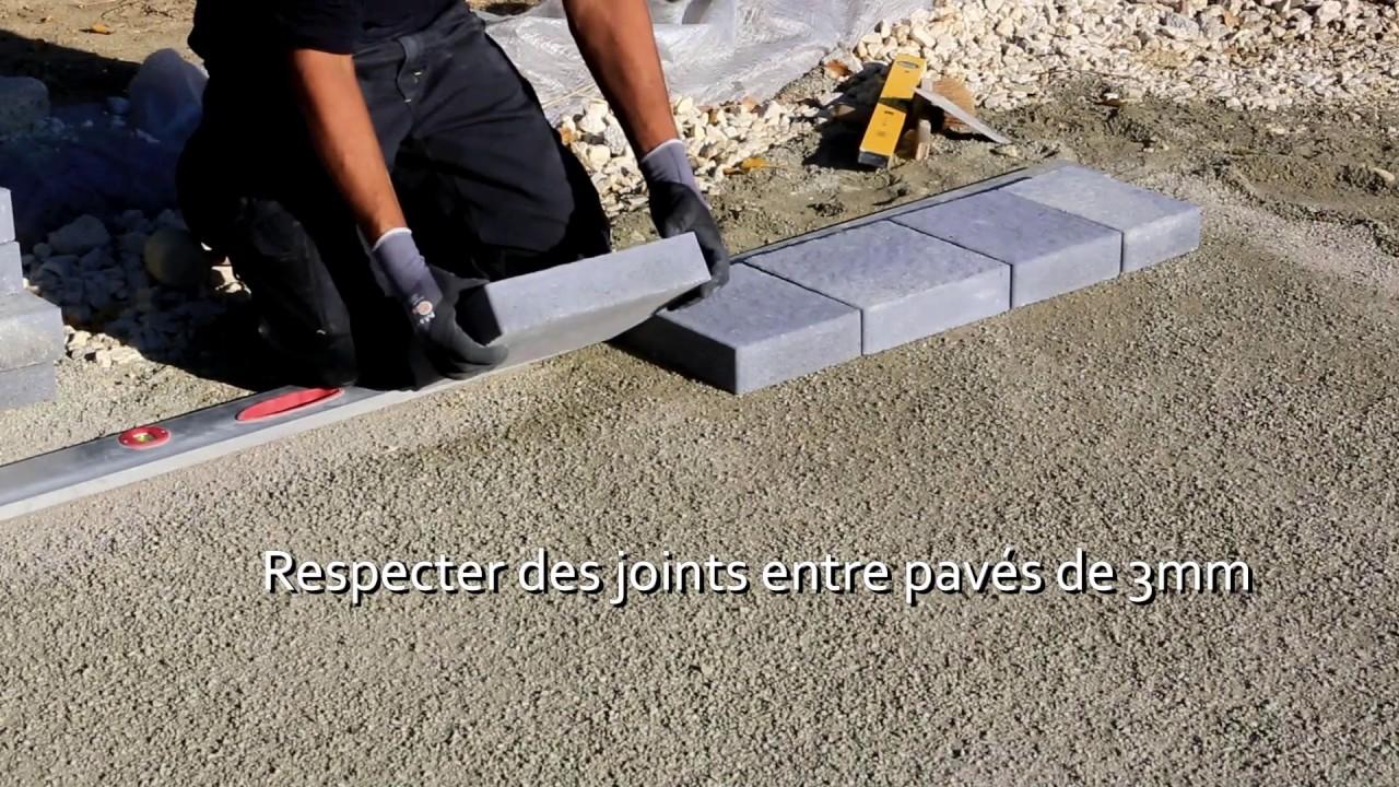 BRADSTONE - CARRÉ D\'ARC : Pose de pavés - YouTube