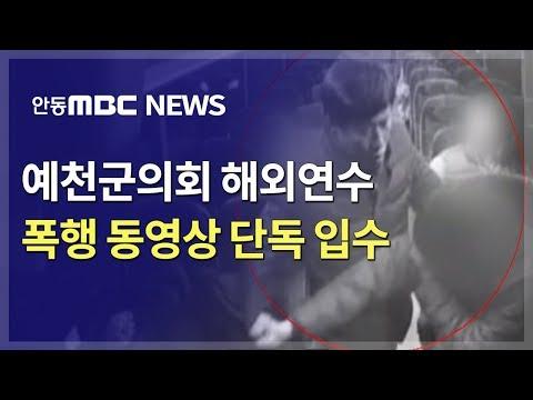 해외연수 예천군의원 폭행 CCTV 단독 입수 / 안동MBC (a councilman, Guide Assault)