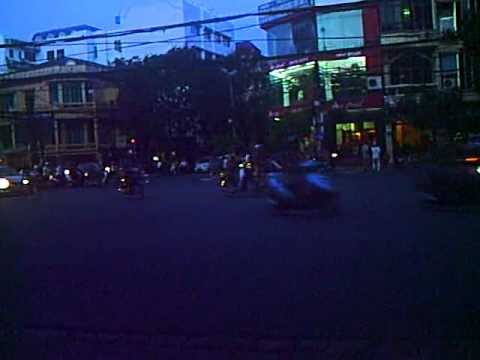 Hanoi Traffic in front of KCC