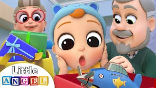 Download Grandma and Grandpa Brought Us Presents | Little Angel Kids Songs & Nursery Rhymes Mp3 and Videos