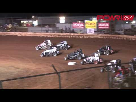3/24/18 POWRI Lucas Oil National Midget League A-Main Highlights from I-44 Riverside Speedway