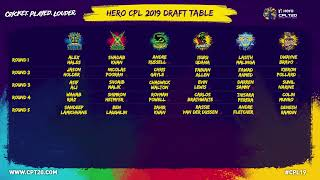 CPL T20 2019 Player Draft