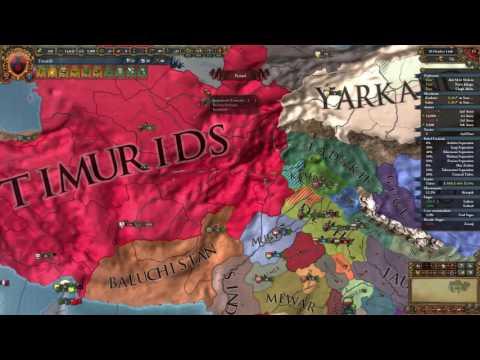 Eu4 Timurids Ep.1 Blitzkrieg war for Mughals!