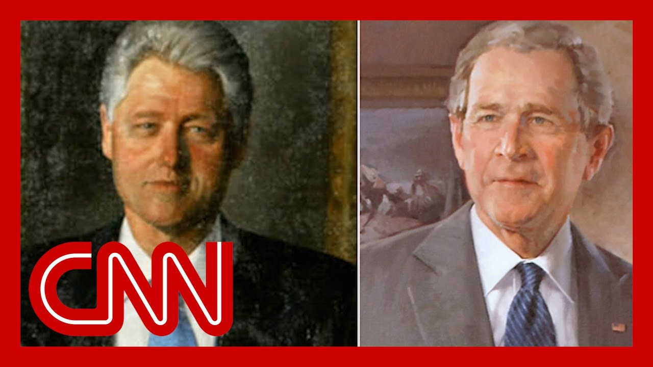 White House returns Bush and Clinton portraits to prominent ...