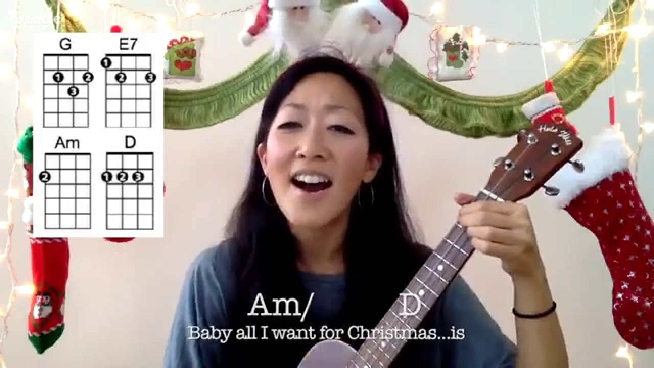 All i want for christmas is you ukulele play along youtube all i want for christmas is you ukulele play along hexwebz Images
