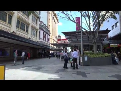 Brisbane Queen Street Mall in 4K part 1