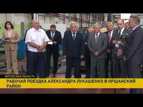 Александр Лукашенко раскритиковал работу предприятий Оршанского района