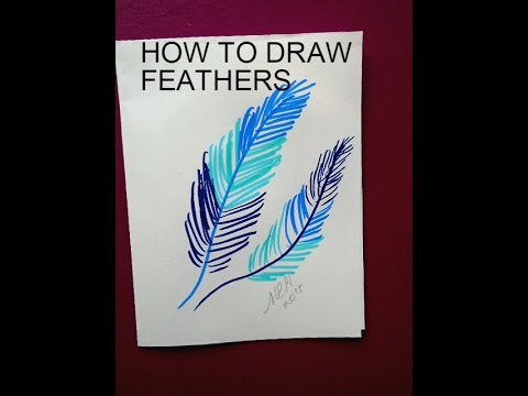 drawing how to draw feathers crafts for kids youtube. Black Bedroom Furniture Sets. Home Design Ideas