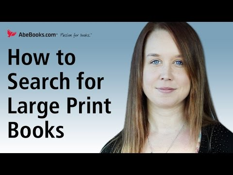 How To Search And Find Large Print Books