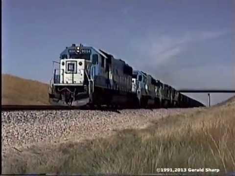 Burlington Northern/Chicago Northwestern In The Powder River Basin, WY -1991