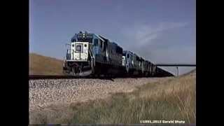 Burlington Northern/Chicago Northwestern In The Powder River Basin, WY -1991