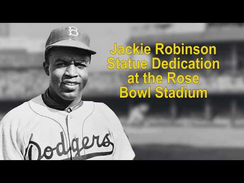 Jackie Robinson Statue Unveiling at the Rose Bowl Stadium