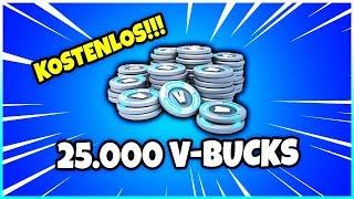 😱 So bekommst du KOSTENLOS 25.000 V-Bucks! - Fortnite Battle Royale