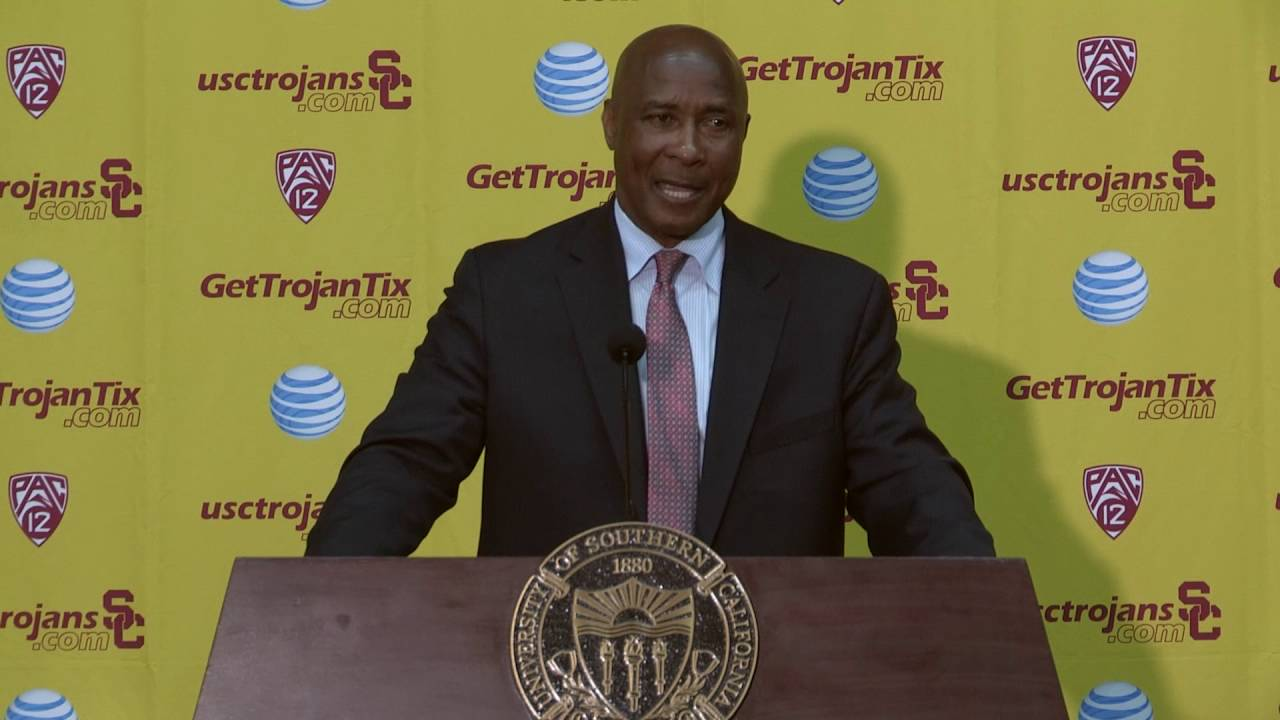 Lynn Swann Introduced as USC AD - YouTube