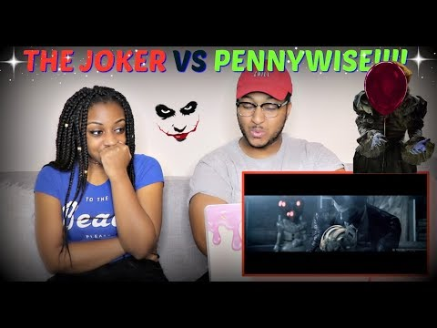 Pennywise (IT) vs. The Joker | Battle Of The Clowns By Mightyracoon! REACTION!!!